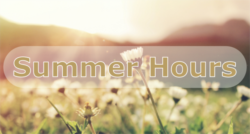 link to the library's Summer hours